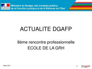 ACTUALITE DGAFP
