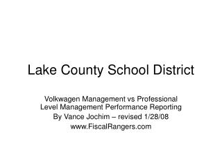 Lake County School District