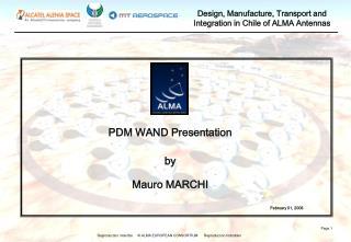 PDM WAND Presentation by Mauro MARCHI February 01, 2006