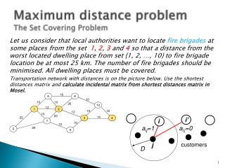 Maximum distance problem   The Set Covering Problem
