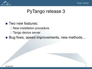 PyTango release 3