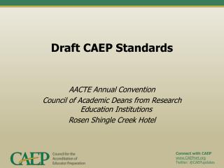 Draft CAEP Standards