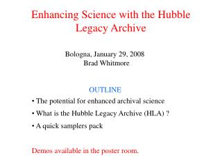 Enhancing Science with the Hubble Legacy Archive