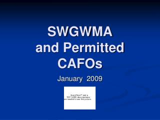 SWGWMA and Permitted CAFOs