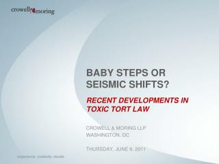 BABY STEPS OR SEISMIC SHIFTS?