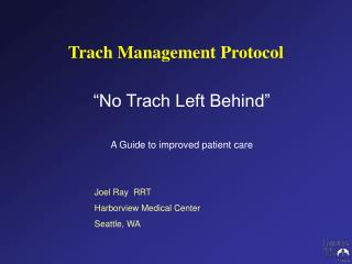 Trach Management Protocol