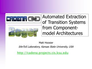 Automated Extraction of Transition Systems from Component-model Architectures