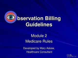 bservation Billing  Guidelines