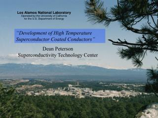 Los Alamos National Laboratory Operated by the University of California