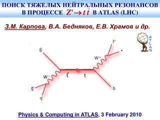 ПОИСК ТЯЖЕЛЫХ НЕЙТРАЛЬНЫХ РЕЗОНАНСОВ В ПРОЦЕССЕ     В  ATLAS (LHC)