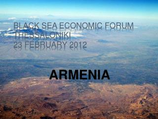 BLACK SEA ECONOMIC FORUM thessaloniki 23 FEBRUARY 2012