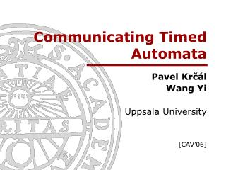 Communicating Timed Automata