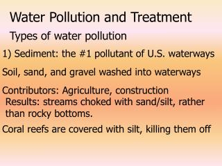 Water Pollution and Treatment