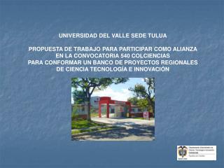 UNIVERSIDAD DEL VALLE SEDE TULUA