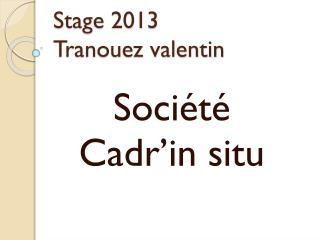 Stage 2013 Tranouez valentin