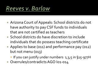 Reeves v. Barlow
