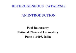 HETEROGENEOUS  CATALYSIS AN INTRODUCTION