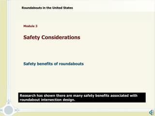 Module 3    Safety Considerations