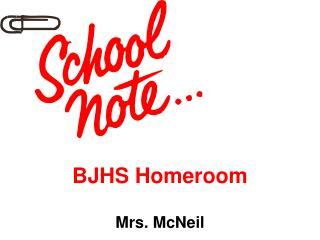 BJHS Homeroom