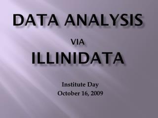 Data Analysis  via IlliniData