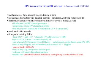 HV issues for Run2B silicon A.Nomerotski 10/15/01