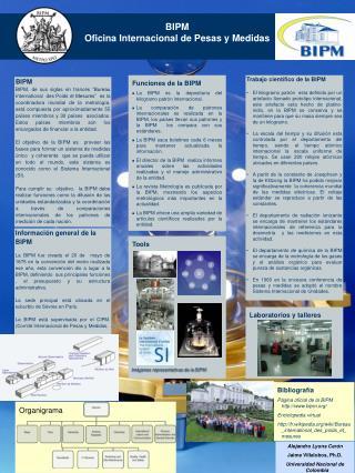 BIPM Oficina Internacional de Pesas y Medidas