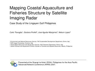 Mapping Coastal Aquaculture and Fisheries Structure by Satellite Imaging Radar
