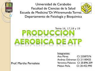 Produccion aerobica  de  atp