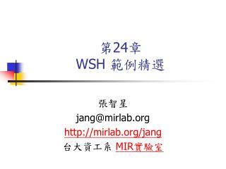 第 24 章 WSH  範例精選