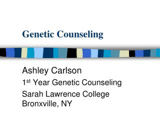 Genetic Counseling