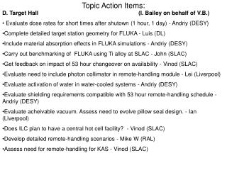 Topic Action Items:
