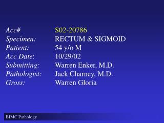 BIMC Pathology