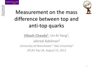 Measurement on the mass difference between top and   anti-top quarks
