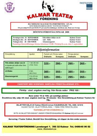 Biljettinformation