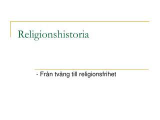 Religionshistoria