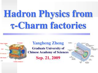 Hadron Physics from ?-Charm factories