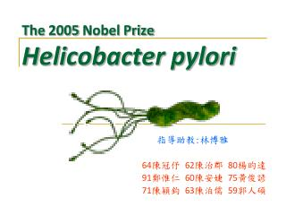 The 2005 Nobel Prize Helicobacter pylori