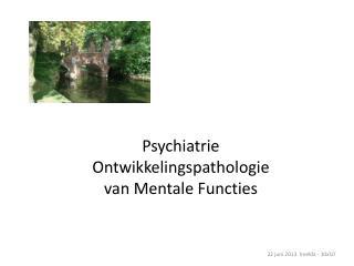 Psychiatrie Ontwikkelingspathologie van Mentale Functies