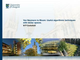 Von Neumann to Bloom: Useful algorithmic techniques with vector spaces.