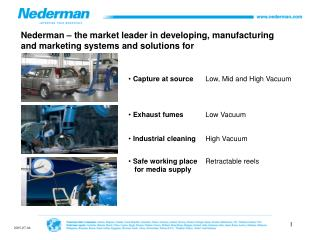Nederman – the market leader in developing, manufacturing  and marketing systems and solutions for