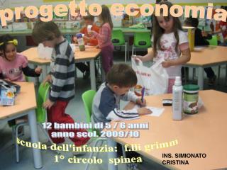 progetto economia