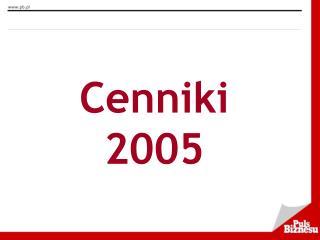 Cenniki 2005