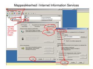 Mappesikkerhed i Internet Information Services