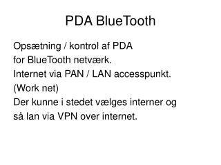 PDA BlueTooth