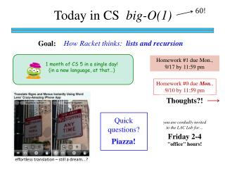 Today in CS   big-O(1)