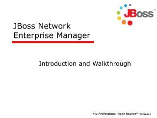 JBoss Network Enterprise Manager