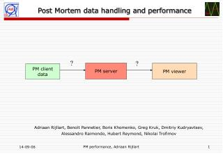 Post Mortem data handling and performance