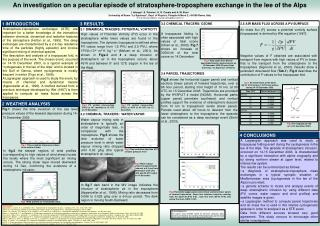 An investigation on a peculiar episode of stratosphere-troposphere exchange in the lee of the Alps