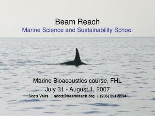 Beam Reach Marine Science and Sustainability School