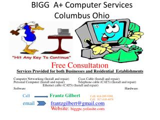 BIGG  A+ Computer Services Columbus Ohio